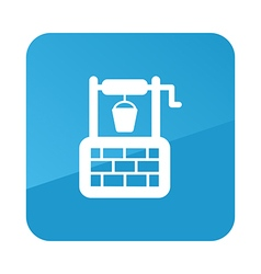 Water well icon garden vector