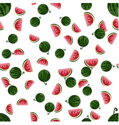 watermelon pattern vector image