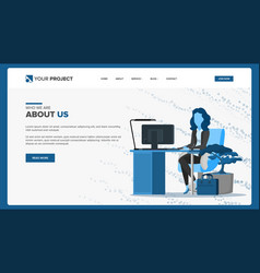 web page design business screen internet vector image