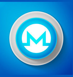 White cryptocurrency coin monero xmr icon isolated vector