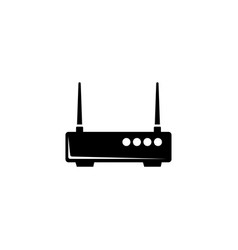 Wifi router network modem flat icon vector