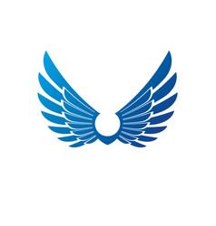 wings heraldic symbol heraldic coat of arms vector image