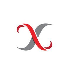 x letter logo template icon design vector image