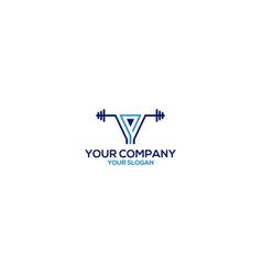 y fitness gym logo design vector image