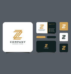 Z letter logo template vector