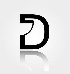 D for design- Logo for interior design or architec vector image vector image