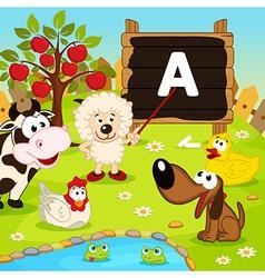 sheep teaches animals vector image vector image