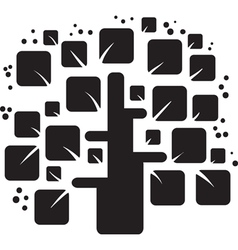 stylized black tree vector image vector image