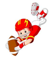 young kid playing football vector image