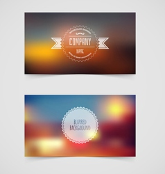 Blurred cards design template vector image