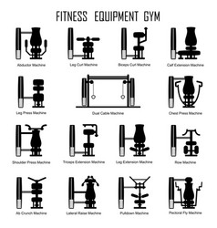 fitness equipmrnt gym vector image vector image