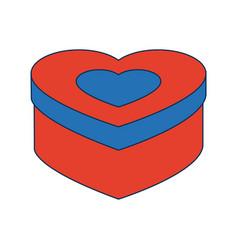 love heart romantic passion symbol vector image vector image