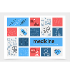 medicine infographic template vector image vector image