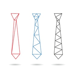 Tie abstract isolated vector image vector image