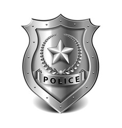 police badge isolated on white vector image vector image