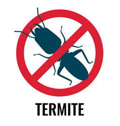 anti-termite red and blue icon on vector image