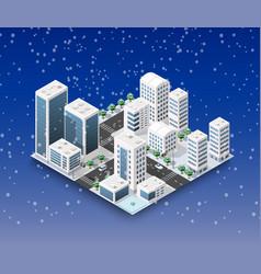 city winter landscape vector image vector image