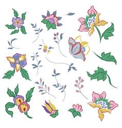 Flower elements vector image vector image