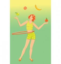 juggler girl vector image vector image