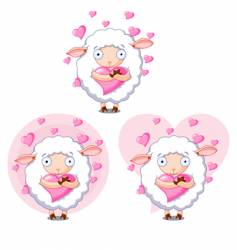 love sheep vector image vector image