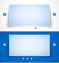 Set of web image sliders vector image