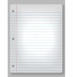 spotlight notebook paper vector image vector image