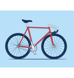 Track Bike vector image vector image