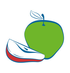 apple fresh fruit vector image