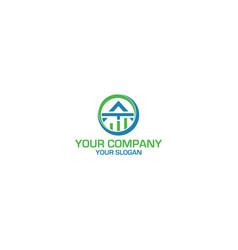 At accounting logo design vector