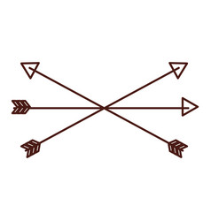 brown arrow symbol icon vector image