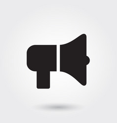 Bullhorn megaphone glyph icon for any purposes vector