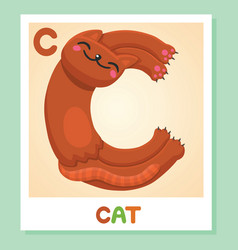 C is for cat letter cat cute vector