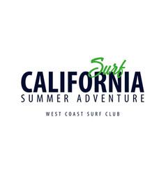 california surfing emblem or logo vector image