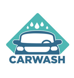 Carwash car cleaning service isolated icon vehicle vector