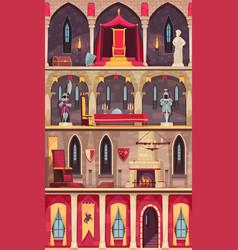 Castle cartoon banners vector