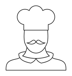 Chef cook icon outline style vector image