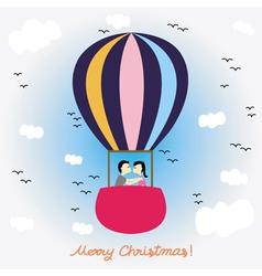 Christmas greeting card51 vector image