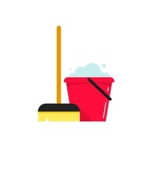 Cleaning supplies isolated on vector