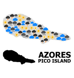Climate pattern map pico island vector