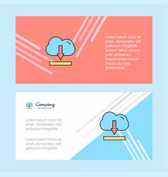 cloud downloading abstract corporate business vector image