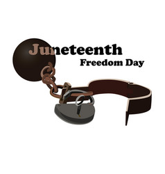 Concept on juneteenth freedom day open shackles vector