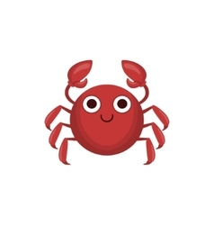Crab Simple Cartoon Character vector