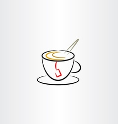 Cup of tea clipart icon vector