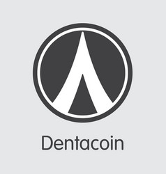 dentacoin - digital currency vector image