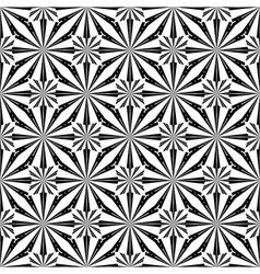 Design seamless monochrome circle stripy pattern vector