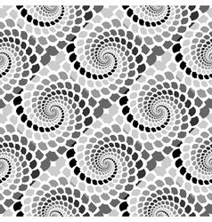 Design seamless monochrome helix snakeskin pattern vector image
