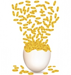 dollar egg vector image