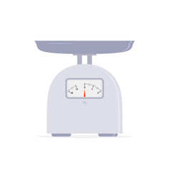 domestic weight scale kitchen scale in flat vector image