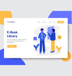 e-book library concept vector image