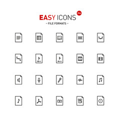 Easy icons 24a files vector